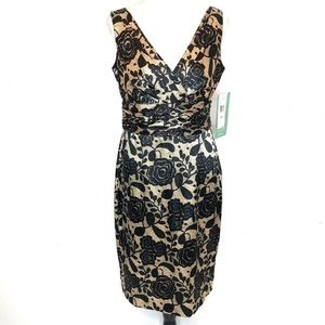 Jones wear Black Gold floral Dress.